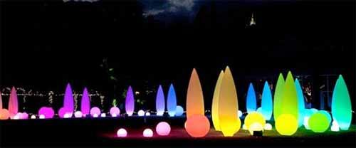 Los LEDs iluminan al Jardín Botánico de Atlanta