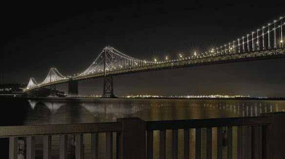 Nueva Iluminación del Puente de la Bahía de San Francisco