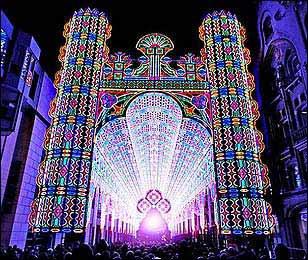 Luminarie de Cagna: Catedral de luces