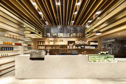 Una confitería en China sorprende por su iluminación y diseño