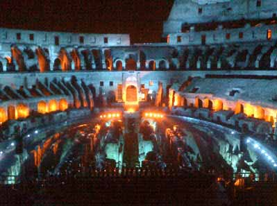 La Iluminación interior del Coliseo Romano
