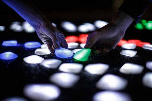 Arte con cristales LED inalámbricos