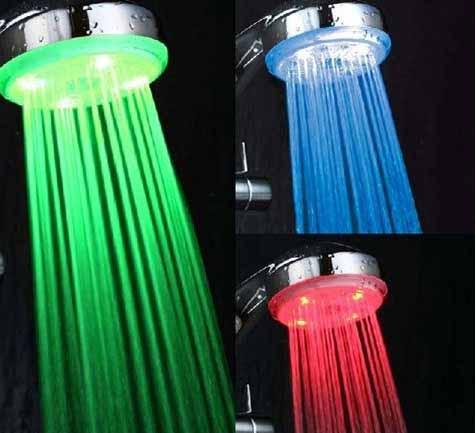 Nueva ducha con iluminación LED para regular la temperatura del agua