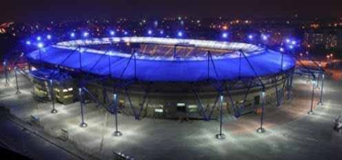 Iluminación LED en los estadios de la Eurocopa 2012