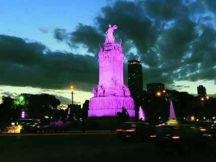Iluminan al Monumento de los Españoles con tecnología LED