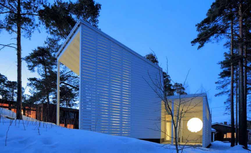 Tiras de LED para iluminar este moderno hotel en Finlandia