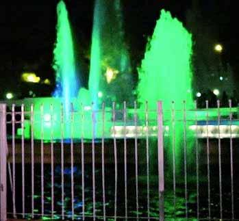 De la mano de la iluminación LED, vuelven las fuentes al Parque Chacabuco