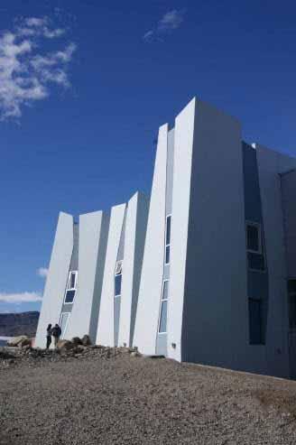 Un museo con forma de glaciar