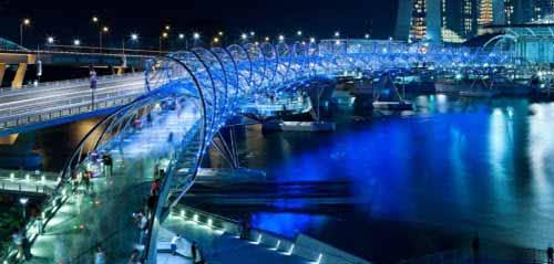 Puente hélice en Singapur