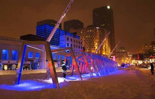 Una instalación que interactúa con la iluminación