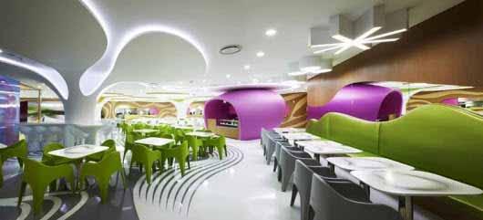 LEDs y un gran diseño para este comedor en Seúl