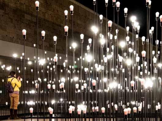 Instalación lumínica LEDscape por LIKEarchitects