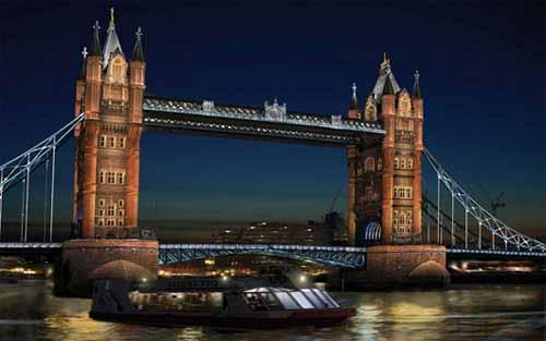 Se eligió la iluminación del Tower Bridge durante los Juegos Olímpicos 2012