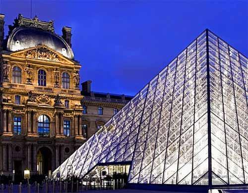 Nueva iluminación exterior del Louvre