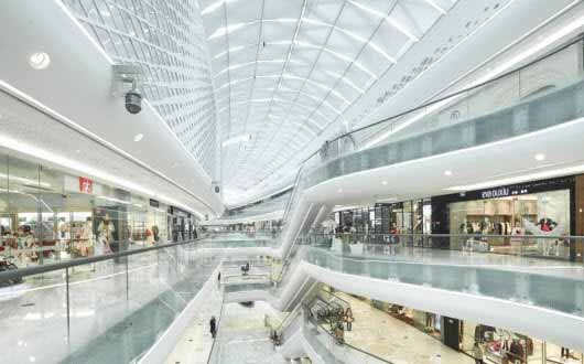 El magnífico diseño e iluminación del Hanjie Wanda Square en China