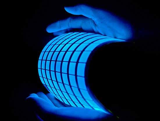 Destacan el uso del OLED como azulejos para iluminación