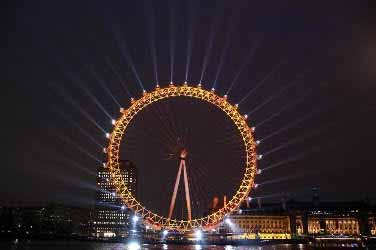 Twitter ilumina la Rueda del Milenio en Londres durante los Juegos Olímpicos