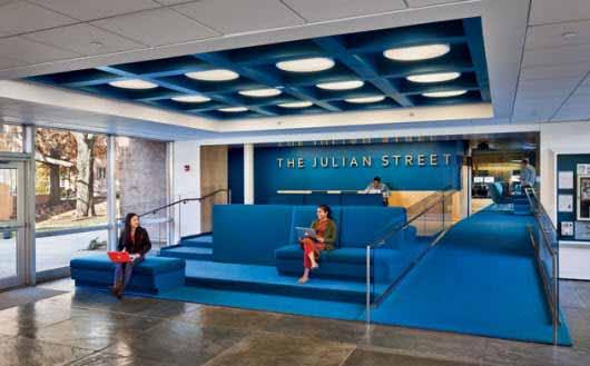 Una nueva biblioteca en Princeton con una iluminación brillante