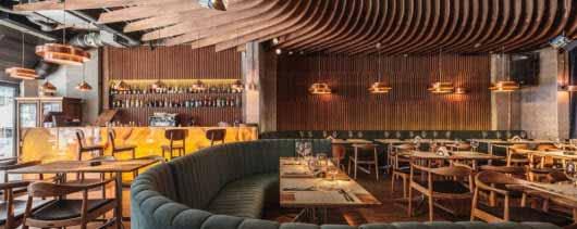 Iluminación original para un restaurant con espacio para shows
