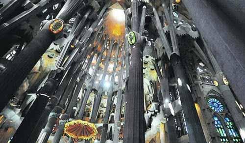 La espectacular iluminación de uno de los templos más importantes