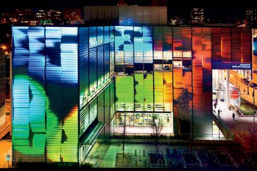 Luces LED para iluminar veinte centros culturales en Montreal, Canadá