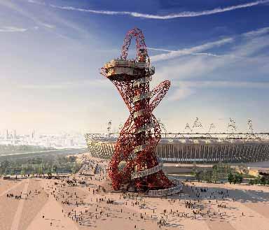 Una torre con iluminación LED y efectos especiales iluminará el corazón de la Villa Olímpica