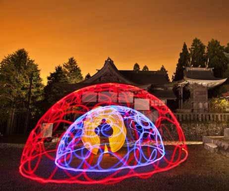 Intervenciones urbanas con iluminación LED en Japón