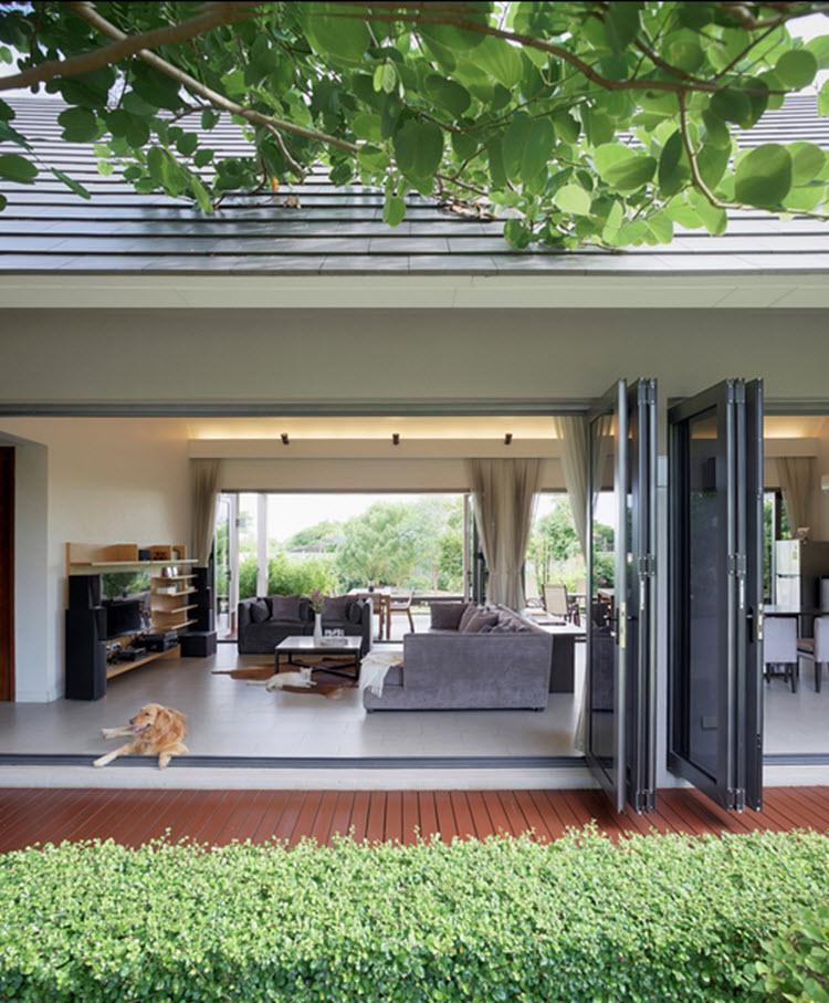 Una casa en Bangkok se destaca por su diseño único y moderno ...