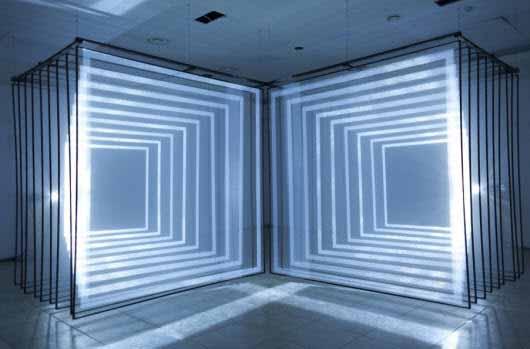 Una instalación de luces que te hace perder el sentido del espacio