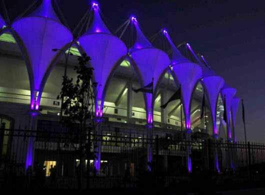 Toda la tecnología en la iluminación para un estadio en Uzbekistán