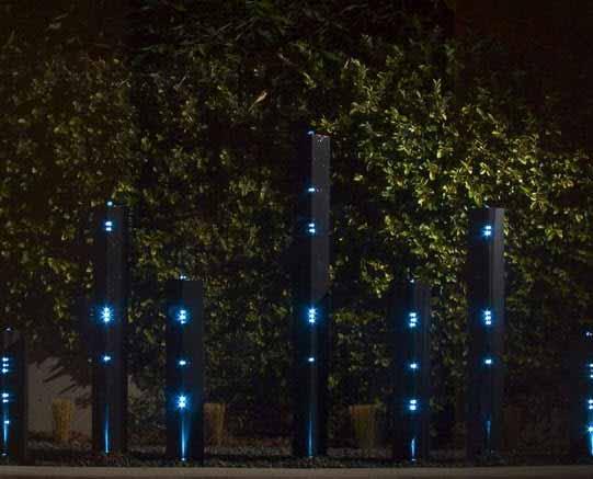 Alumbrar exteriores con agua y un concepto artístico innovador en iluminación