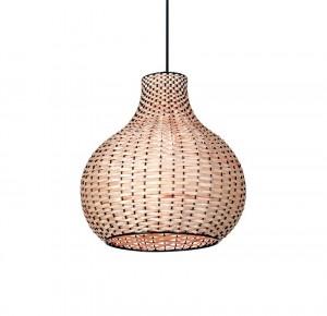 Lámpara Carilux | Campana de mimbre - A17 - Colgante