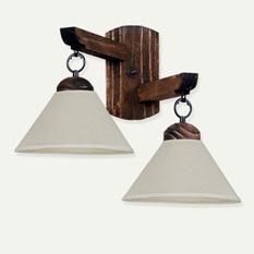 Lámpara Carilux | Rallada con Pantalla de Liencillo - 7200/2