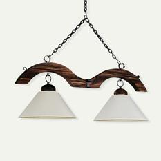 Lámpara Carilux | Rallada con Pantalla de Liencillo - 7208/2