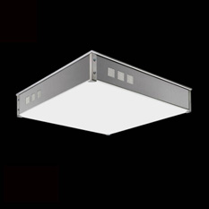 IntearAplique/Plafón Quadra Cuadrado y rectangular