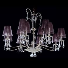 Lámpara Ilum Integral | 750-12 Negro - Baby Almendras Cristal