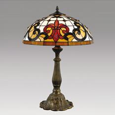 Lámpara Color Cálido | Tiffany - 192 - Flor de Liz