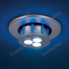Artelum Iluminación90007NS - Empotrable de Techo Start 3 Efecto Azul