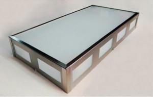 Lomas LuxPlafón acero con vidrio