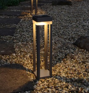 Lámpara Lutec | Luz Led Exterior Con Panel Solar - P9080-450