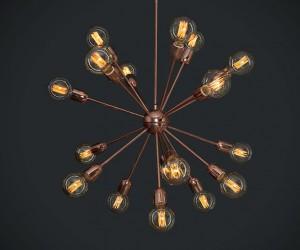 Lámpara Perfecta Iluminación | Explosion cobre - P-05