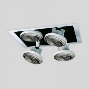 Lámpara Punto Iluminación | ATRIO BOX 111 LED X4 CUADRADO - EM ATBX 111G 4C - Empotrable