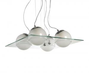 Lámpara Romaluz | Globos Cristales - 820-4S
